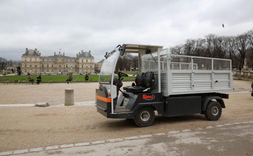 Trasportatori a pianale SIMAI al Jardin du Luxembourg