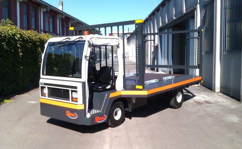 Trasportatore per movimentazione carrelli ed assili ferroviari SIMAI PE30A